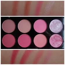 makeup rev blush palette sugar e swatches
