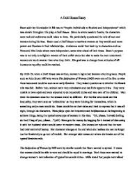a doll house essay gcse english marked by teachers com page 1 zoom in