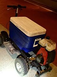 man arrested for dui while driving motorized cooler