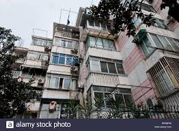 Old Small Apartment House In Shanghai China Stock Photo Royalty - Small old apartment