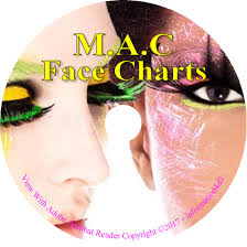 makeup face charts 1700 mac cosmetic training charts guide costume looks on cd 1 of 7