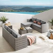 rattan corner sofa set outdoor