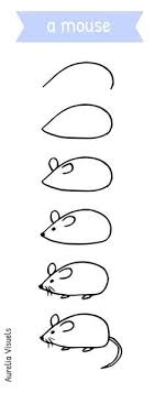 dessiner une souris draw a mouse step by step plus
