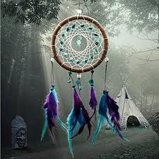 upmall circle shaped dream catcher with feathers wall hanging decoration ornament for car home bedroom