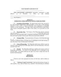 Partnership Proposal Samples Printable Partnership Agreement Template General