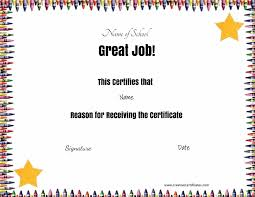 certificates of completion for kids free school certificates awards