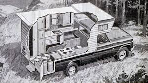 Truck Camper HQ: Pickup Truck Camper Cutaway, 1967 | RV | Truck ...