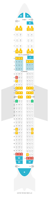 Seat Map Boeing 737 900er 739 Delta Air Lines Find The
