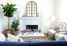 living room makeover park project navy white and gold black decor
