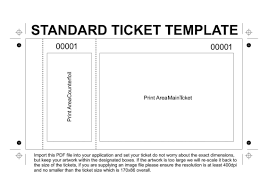 Template For Raffle Tickets To Print Free Free Printable Raffle Tickets Template Template Ticket Template