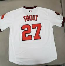 l 40 Mike Los Throwback medium a Angeles 1985 Size Jersey Details About Angels Trout 27