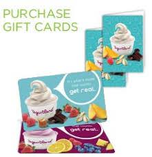 yogurtland gift card