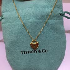 tiffany co heart locks pendant luxury on carou