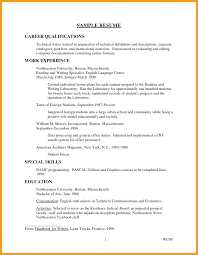 Qualifications For Resume Technical Writer Resume Sample Sample