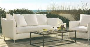 outdoor upholstered furniture. lee slip covered outdoor sofa at home infatuation blog upholstered furniture