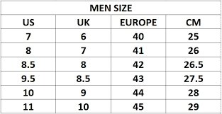 Asics Gel Lyte V Size Chart Size Chart Sole Mates By H D
