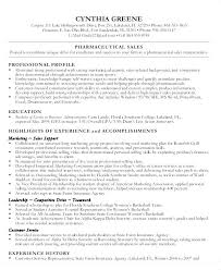 Medical Sales Resume Examples Pharmaceutical Sales Resume Example