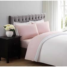 blush sheets queen truly soft everyday blush queen sheet set ss1658bsqn 4700 the home