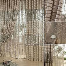 Net Curtains For Living Room Jacquard Flower Pattern Net Curtains For Window Elegant Curtains