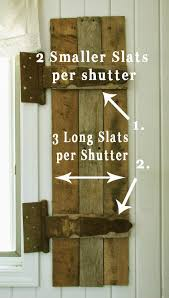 How To Build From Pallets How To Build Shutters From Pallets
