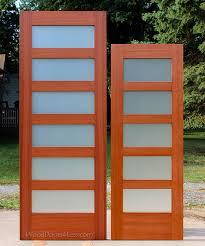mahogany shaker glass interior doors