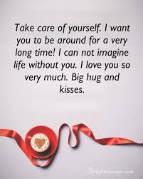 romantic take care messages for him