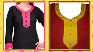 Designers Neckline Curve How To Cut And Stitch Designer Curved V Neck With Long Sweet Heart And Piping On Neck Line
