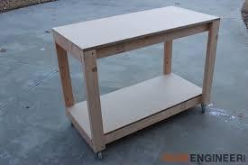 easy diy portable workbench plans rogue engineer