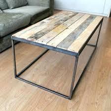metal frame coffee table stirring wood top ottoman home design glass