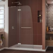 dreamline aqua ultra 45 inches frameless hinged glass shower door