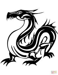 раскраска татуировка с азиатским драконом раскраски для детей