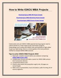 How To Write Ignou Mba Projects By Gullybaba Issuu