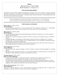 Fast Food Manager Resume Food