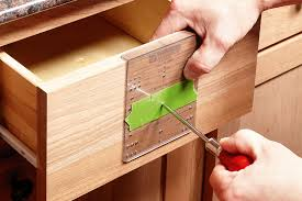 cover a hole with masking tape and push a driver through tips for replacing cabinet