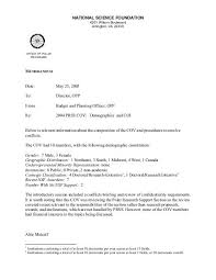 Memo Template National Science Foundation