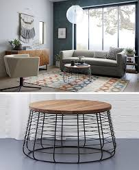 furniture ideas round coffee tables made from wood