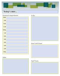 Microsoft Word Daily Planner Template Barca Fontanacountryinn Com