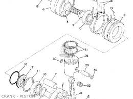 yamaha rd200 1974 usa parts lists and schematics crank piston