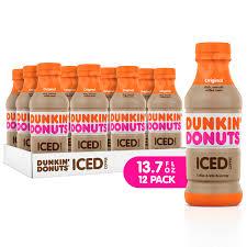 dunkin donuts iced coffee original 13 7 fl oz 12 count