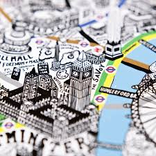 previousnext hand drawn map of london