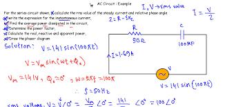 ac circuit example 3 rc series circuit