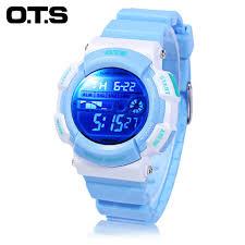 OTS T6900L Children LED Digital Watch Lake Blue Kids' Watches ...