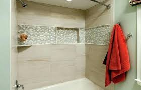 bathtub shower tile surround ideas bathroom soaker tub tiled mosaic decorating licious