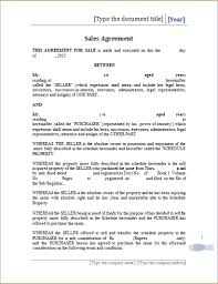 Printable Sales Agreement Template Ms Word Word Document Templates