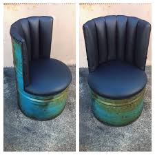 drum furniture. This Drum Chair Is Sold, Though Similar Can Be Made By Custom Order. For More Information Please Make An Enquiry. Furniture