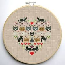 Cat Cross Stitch Patterns Cool Patterned Cat Cross Stitch Patterns The Best of Small Things With