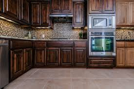 Kitchen Wall And Floor Tiles Kitchen Awesome Kitchen Design With L Shape Brown Wooden Kitchen
