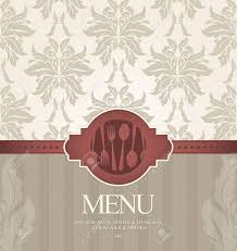 Restaurant Menu Design With Seamless Background