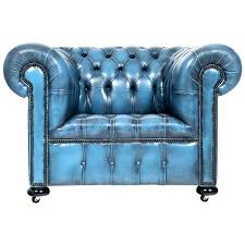 turquoise leather chair blue leather chairs vintage steel blue leather chesterfield club chair for blue