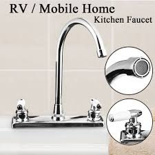 Rv Mobile Home Motor Vehicle Kitchen Sink Faucet Dual Handles